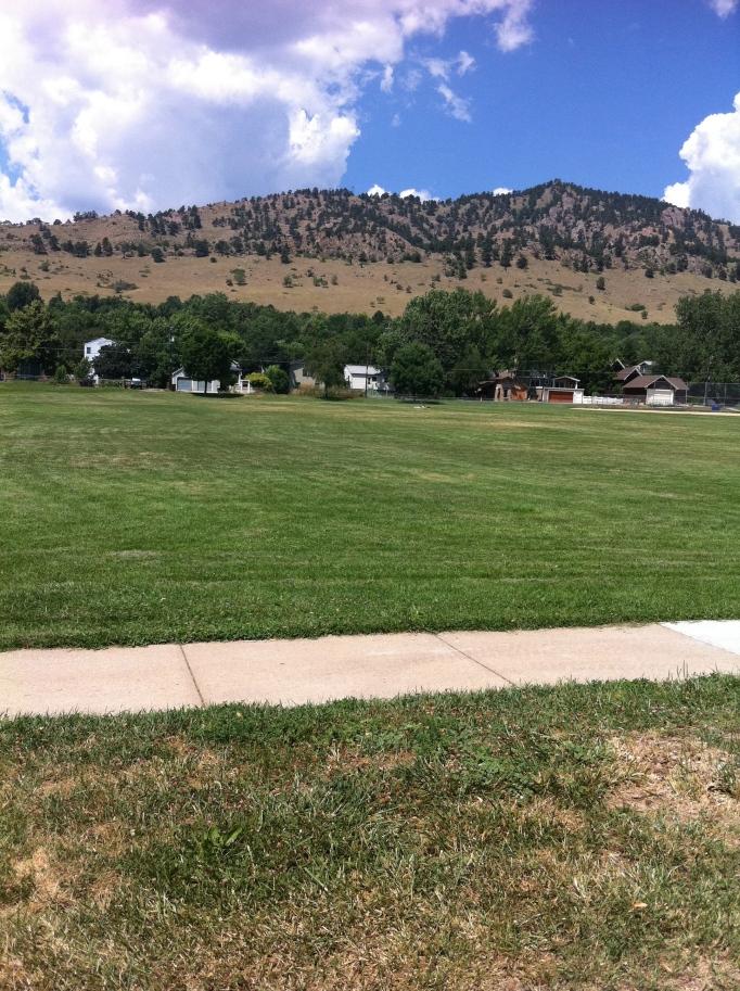 Backdrop från parken i vårt område