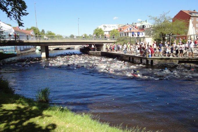 Alla campers var med och körde Mitt i Borås Triathlon under lägret!