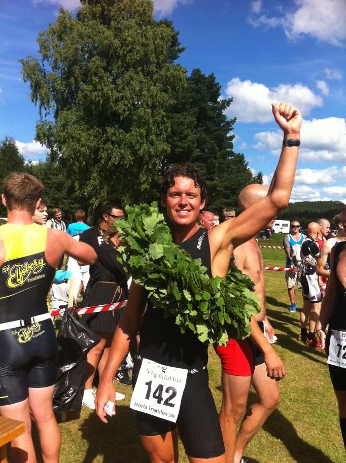Efter segern i Horla Triathlon