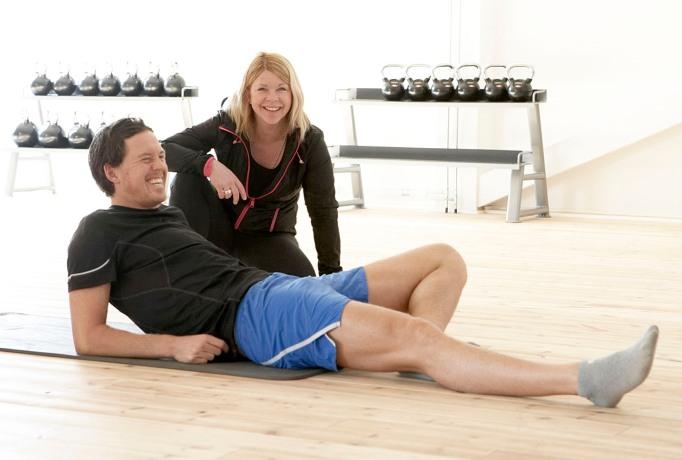 Jag och Anetth tränar hälsläp. Och det är skitkul!
