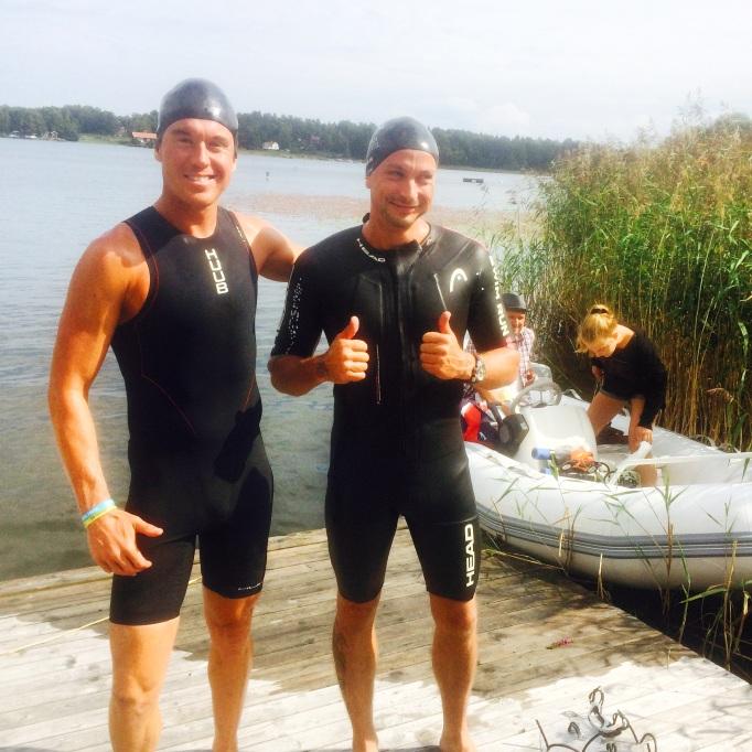 Pre-swim med Petter.