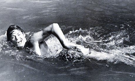 Best of both worlds … Johnny Weissmuller competes at the 1924 Olympic Games in Paris.